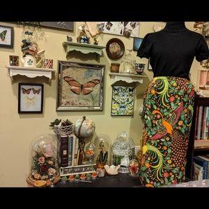 Vintage nature bird skirt